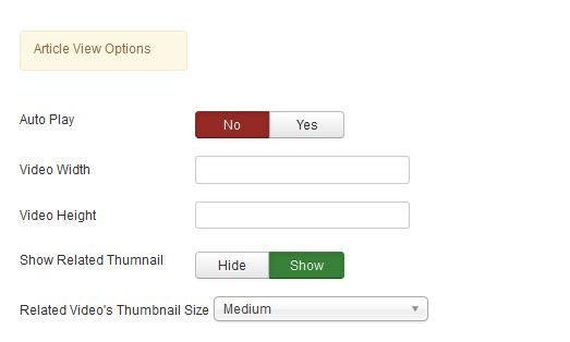 Article View Options