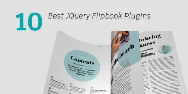 10 best JQuery Flipbook Plugins 2019