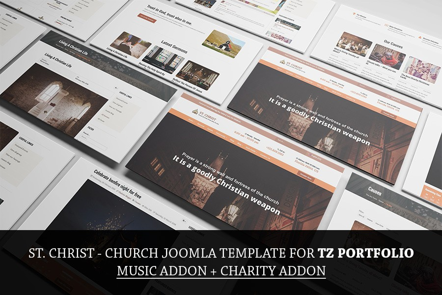 St. Christ - Free Church & Charity template for TZ Portfolio Plus
