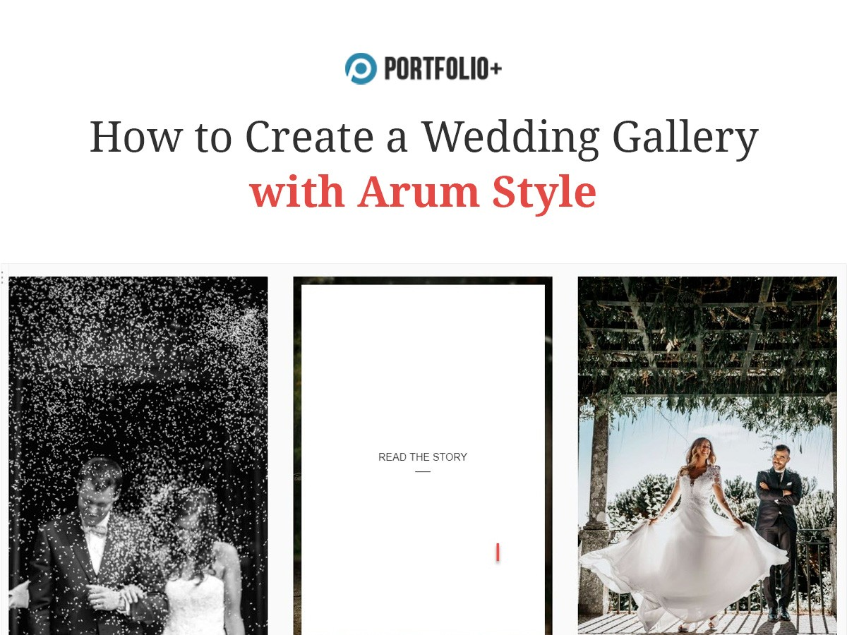 How to create a wedding gallery with Arum style