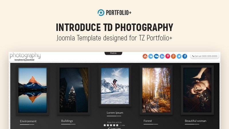 Introduce Td Photography - Joomla template for Photographers & Artists