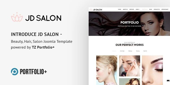 Introduce JD Salon - Beauty, Hair, Salon Joomla Template powered by TZ Portfolio+
