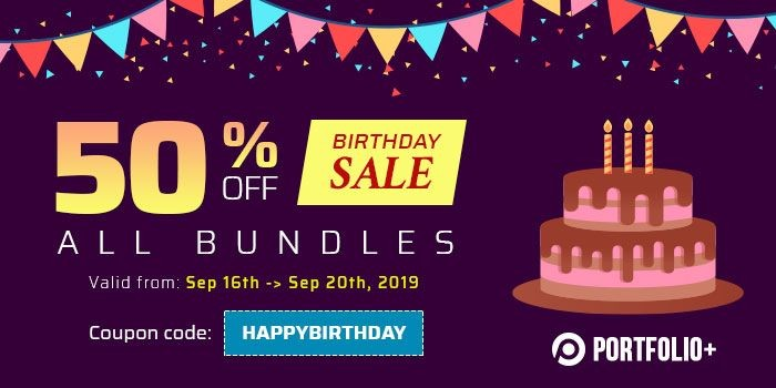 Happy TemPlaza's Birthday - 50% OFF All Bundles
