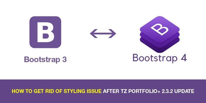 How to get rid of styling issue after TZ Portfolio+ 2.3.2 update?