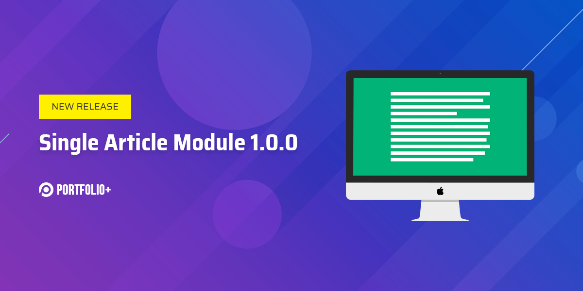 [New release] TZ Portfolio+ - Single article module 1.0.0