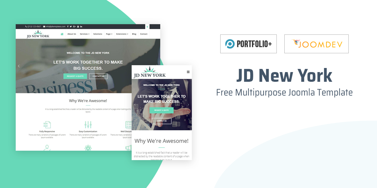 New Release - JD New York Free Multipurpose Joomla template