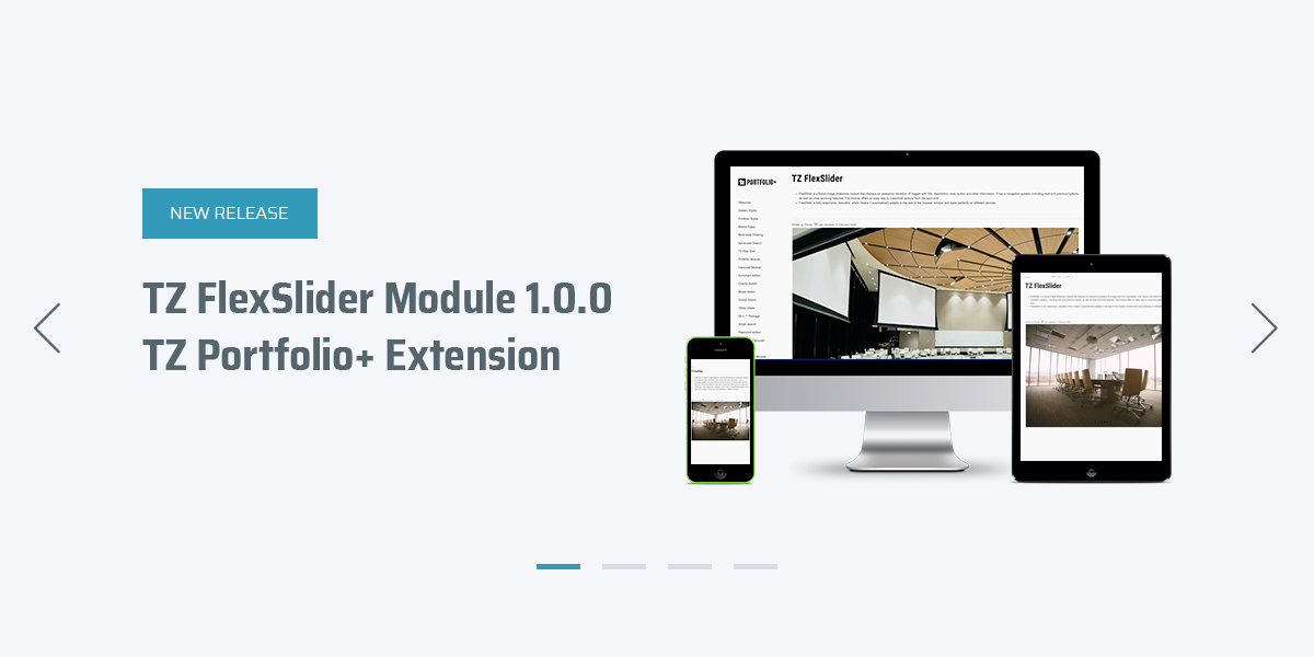 [New] Create a beautiful image slideshow with TZ FlexSlider module