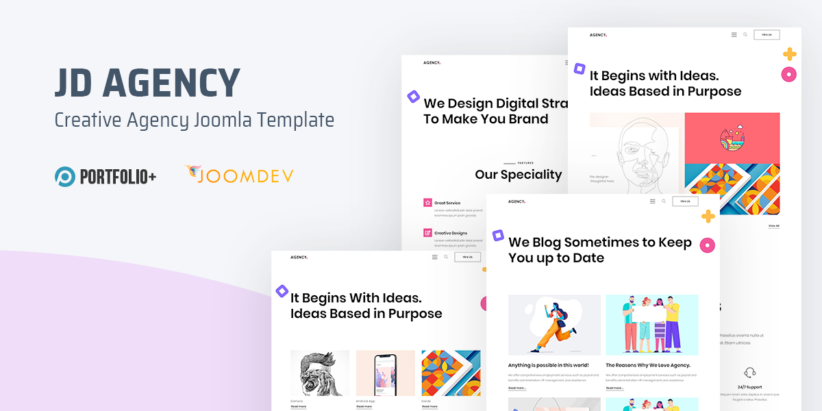 [New] Introduce JD Agency - Creative Agency Joomla Template