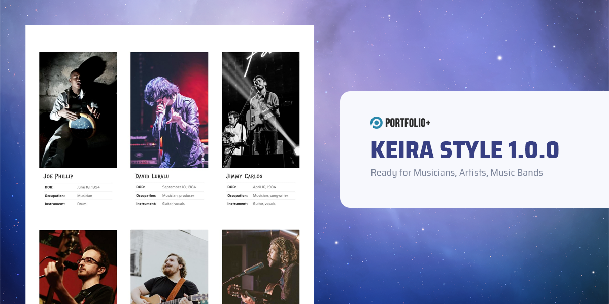 Introduce Keira 1.0.0 - A new style for music website