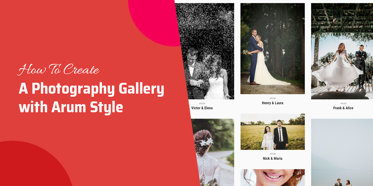 How to create a Photography gallery with Arum style