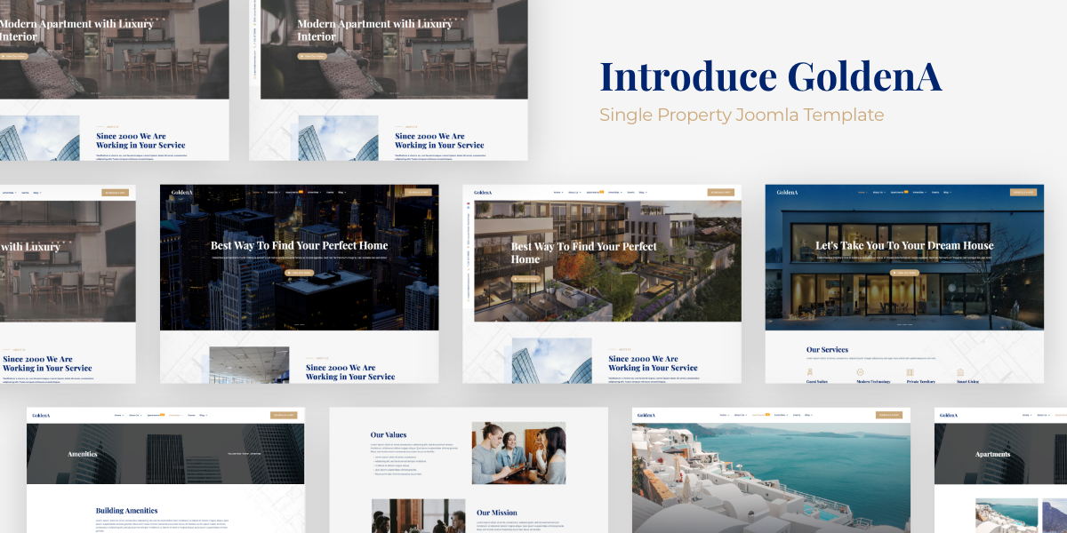 [New] Introduce GoldenA - Single Property Apartment Joomla template
