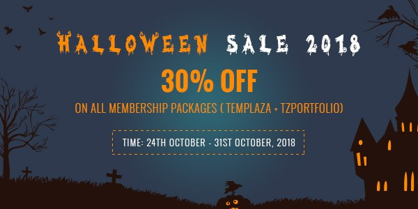 Halloween 2018 - 30% OFF on All membership packages