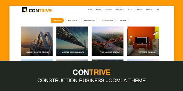 Contrive - new Joomla template for TZ Portfolio+