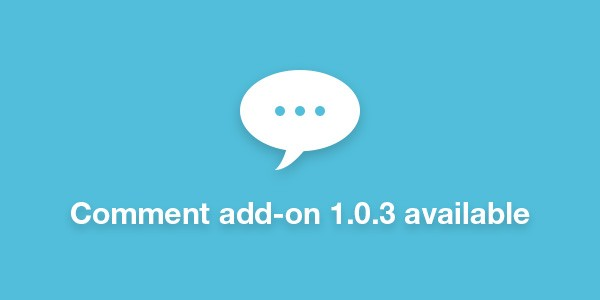 Comment add-on 1.0.3 available