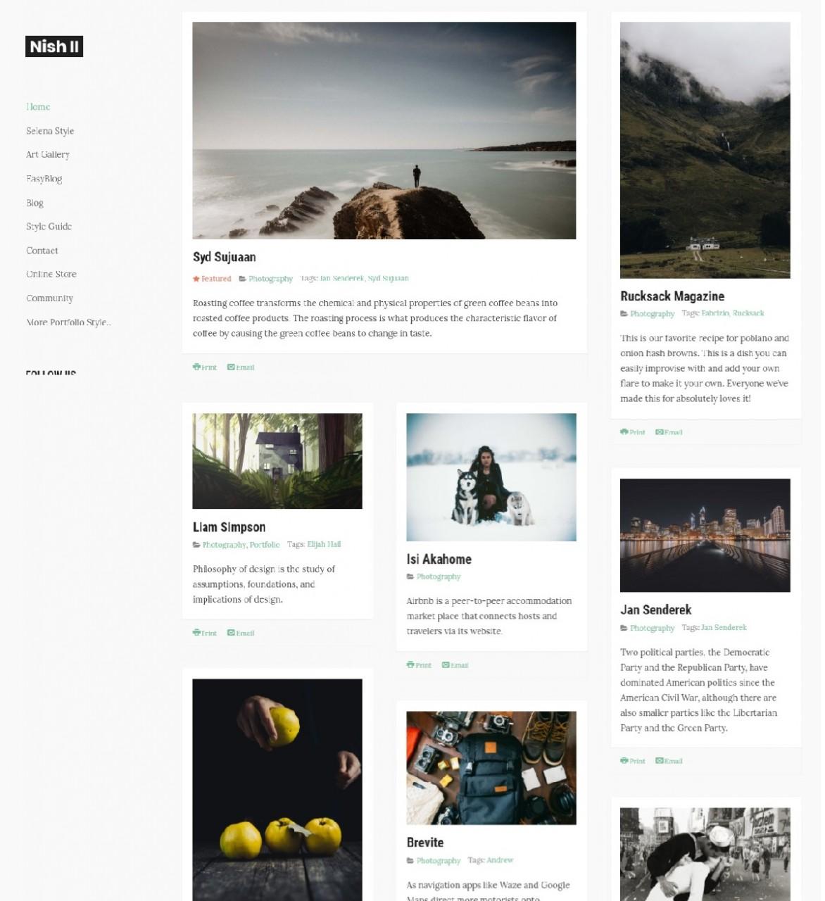 10 Best Portfolio Joomla Templates 2019 - Blog | TZ Portfolio