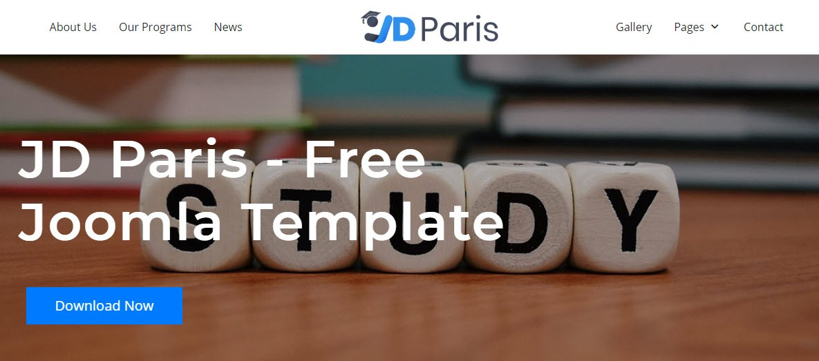JD Paris - A free Joomla template for TZ Portfolio