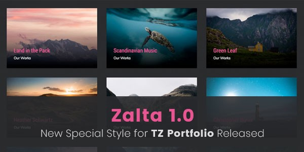 Zalta - New template style for TZ Portfolio released