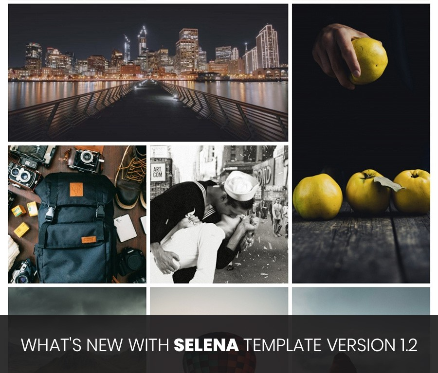 What's new with Selena template version 1.2
