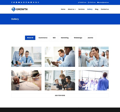 Growth - Free Joomla template